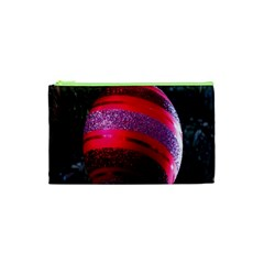 Glass Ball Decorated Beautiful Red Cosmetic Bag (xs)