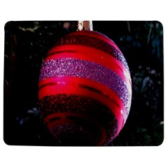 Glass Ball Decorated Beautiful Red Jigsaw Puzzle Photo Stand (Rectangular)