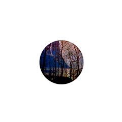 Full Moon Forest Night Darkness 1  Mini Buttons