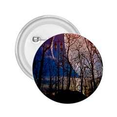 Full Moon Forest Night Darkness 2 25  Buttons