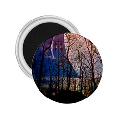 Full Moon Forest Night Darkness 2.25  Magnets