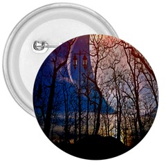 Full Moon Forest Night Darkness 3  Buttons