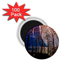 Full Moon Forest Night Darkness 1 75  Magnets (100 Pack)