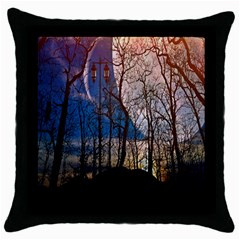 Full Moon Forest Night Darkness Throw Pillow Case (Black)