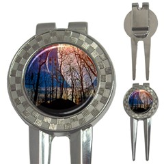 Full Moon Forest Night Darkness 3-in-1 Golf Divots