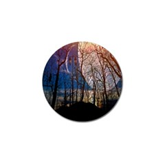 Full Moon Forest Night Darkness Golf Ball Marker (4 pack)