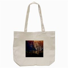 Full Moon Forest Night Darkness Tote Bag (Cream)