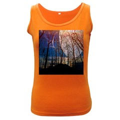 Full Moon Forest Night Darkness Women s Dark Tank Top