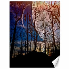 Full Moon Forest Night Darkness Canvas 36  x 48