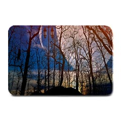 Full Moon Forest Night Darkness Plate Mats