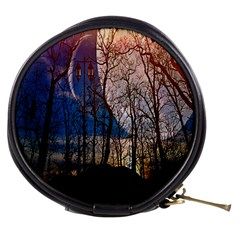 Full Moon Forest Night Darkness Mini Makeup Bags