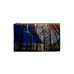 Full Moon Forest Night Darkness Cosmetic Bag (Small)