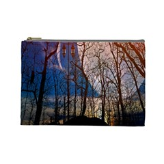 Full Moon Forest Night Darkness Cosmetic Bag (large)