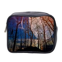 Full Moon Forest Night Darkness Mini Toiletries Bag 2 Side