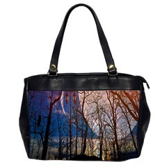 Full Moon Forest Night Darkness Office Handbags (2 Sides)