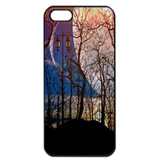 Full Moon Forest Night Darkness Apple Iphone 5 Seamless Case (black)