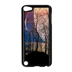 Full Moon Forest Night Darkness Apple Ipod Touch 5 Case (black)