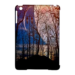 Full Moon Forest Night Darkness Apple Ipad Mini Hardshell Case (compatible With Smart Cover)