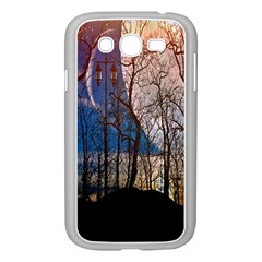 Full Moon Forest Night Darkness Samsung Galaxy Grand DUOS I9082 Case (White)