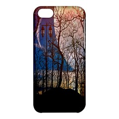 Full Moon Forest Night Darkness Apple Iphone 5c Hardshell Case
