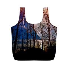 Full Moon Forest Night Darkness Full Print Recycle Bags (m)
