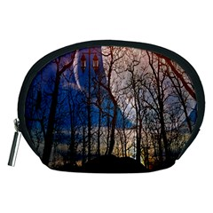 Full Moon Forest Night Darkness Accessory Pouches (medium)