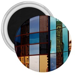 Glass Facade Colorful Architecture 3  Magnets