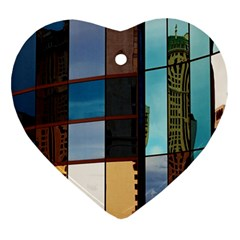 Glass Facade Colorful Architecture Ornament (Heart)