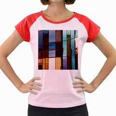 Glass Facade Colorful Architecture Women s Cap Sleeve T-Shirt