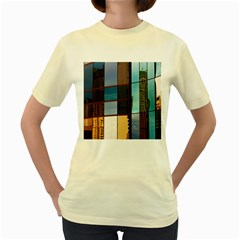 Glass Facade Colorful Architecture Women s Yellow T Shirt