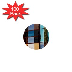 Glass Facade Colorful Architecture 1  Mini Magnets (100 pack)