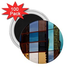 Glass Facade Colorful Architecture 2 25  Magnets (100 Pack)