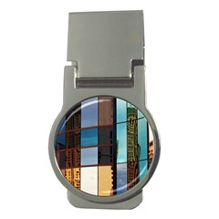 Glass Facade Colorful Architecture Money Clips (Round)