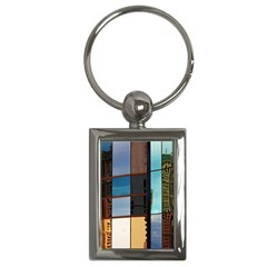 Glass Facade Colorful Architecture Key Chains (Rectangle)