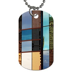 Glass Facade Colorful Architecture Dog Tag (Two Sides)