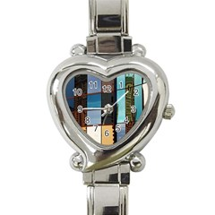Glass Facade Colorful Architecture Heart Italian Charm Watch