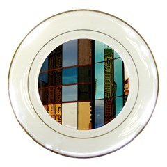 Glass Facade Colorful Architecture Porcelain Plates