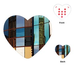 Glass Facade Colorful Architecture Playing Cards (Heart)