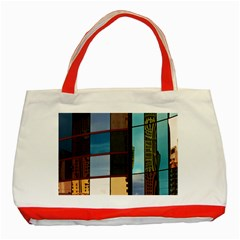 Glass Facade Colorful Architecture Classic Tote Bag (red)