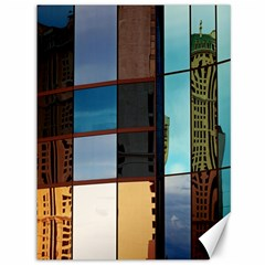 Glass Facade Colorful Architecture Canvas 36  x 48