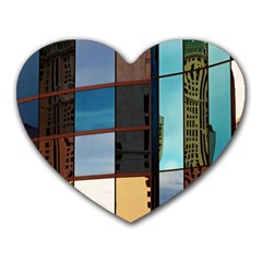 Glass Facade Colorful Architecture Heart Mousepads