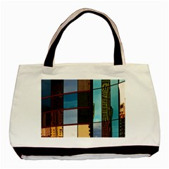 Glass Facade Colorful Architecture Basic Tote Bag (Two Sides)