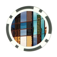 Glass Facade Colorful Architecture Poker Chip Card Guard
