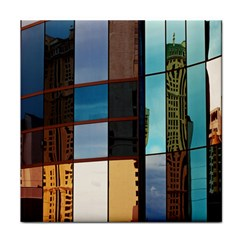 Glass Facade Colorful Architecture Face Towel