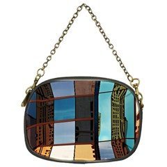 Glass Facade Colorful Architecture Chain Purses (One Side)