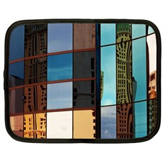 Glass Facade Colorful Architecture Netbook Case (XL)