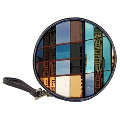 Glass Facade Colorful Architecture Classic 20-CD Wallets