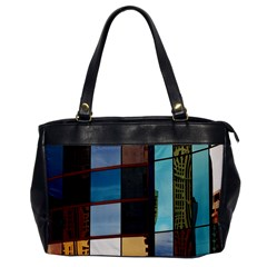 Glass Facade Colorful Architecture Office Handbags