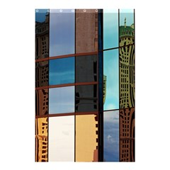 Glass Facade Colorful Architecture Shower Curtain 48  X 72  (small)