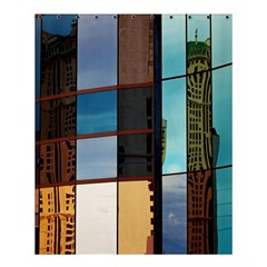 Glass Facade Colorful Architecture Shower Curtain 60  x 72  (Medium)